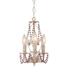 Bel Air Lighting 3-Light The Olde World Antique White Chandelier-for heather & wesli :)
