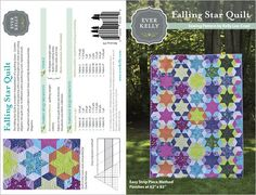 NEW  Ever Kelly  Storybook Lane Pattern  by JeanMariesFabrics, $11.95 #everkelly #quilt #fallingstarquilt