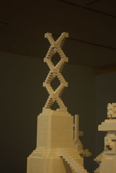 Lego tower - Dunedin Public Art Gallery