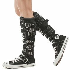 b84b4ed6c6d Womens Converse As Xx Hi Buckles Trainers. i took out my credit card.