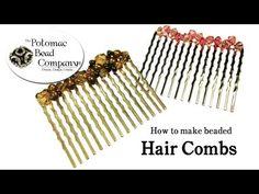 ▶ How to Make Beaded Hair Combs - YouTube