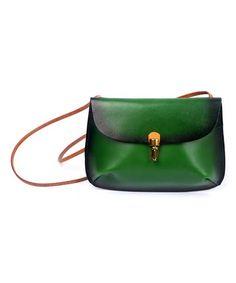 Olive Ombré Ada Leather Crossbody Bag #zulily #zulilyfinds