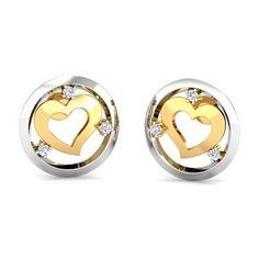 Circle of Love Studs - Valentine's Day Jewellery Gift Buy Earrings, Heart Earrings, Gold Earrings, Jewelry Gifts, Gold Jewelry, Jewellery, Valentines Day Hearts, Studs, Best Gifts