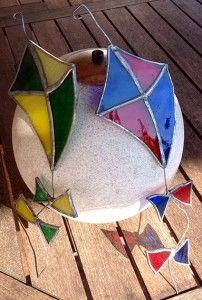 Kites for her grandson by A Star Is Born student Doods de le Vingne