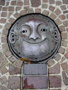 Japanese Manhole Cover via Bex Simon Artist Blacksmith Facebook