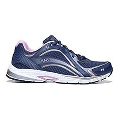 Ryka Womens Sky Walk Walking Shoes Navy  Lilac 85  M and HDO Workout Headband Bundle *** Check out this great product.