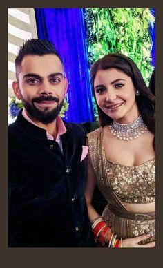 #Virushka ##weddingreception Virat And Anushka, After Marriage, Anushka Sharma, Sabyasachi, Celebs, Celebrities, Beautiful Couple, Couple Shoot, Celebrity Weddings