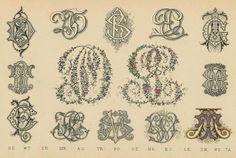 Schriftarten und  Zierschriften pm 1890  monogramme g