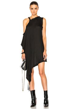 Shop for Ann Demeulemeester Off the Shoulder Tunic in Black at FWRD. 7ceb47dd14