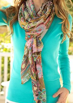 Paisley Perfection Scarf - Light Pink