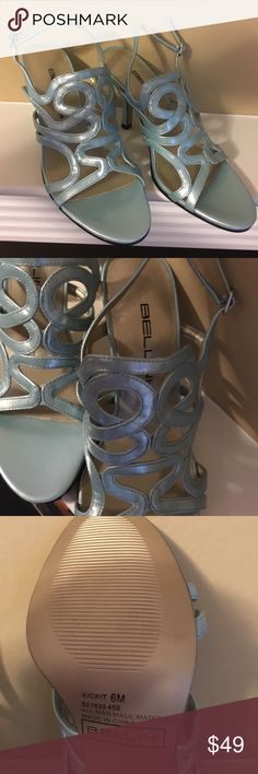 "Bellini Sandals-never worn The ""Kicket"". 6M, all man made materials. You just need a perfect dress! Bellini Shoes Sandals"