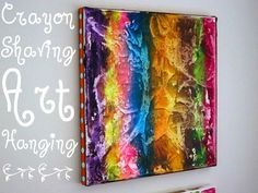 Crayon Art | 19 DIYs For The Artist In You