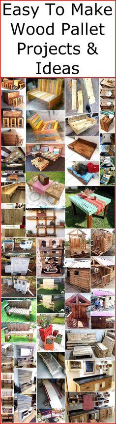 Leuke 'klus'ideeën met houten pallets! ~ Caro