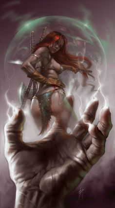 The Very Best of Women in Comics — Artist of the Week: Lucio Parrillo Red Sonja Fantasy Art Women, Beautiful Fantasy Art, Dark Fantasy Art, Fantasy Girl, Fantasy Artwork, Red Sonja, Warrior Girl, Fantasy Warrior, Conan The Barbarian