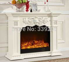 Excellent Snap Shots Electric Fireplace with mantel Strategies Online Shop - Fireplace mantels Electric Fireplace With Mantel, Double Sided Electric Fireplace, Brick Fireplace Wall, Family Room Fireplace, Home Fireplace, Fireplace Inserts, Fireplace Mantels, Fireplace Decorations, Mantles
