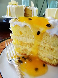 Pear and almond cake - HQ Recipes Pear Recipes, Banana Recipes, Sweet Recipes, Cake Recipes, Pear And Almond Cake, Almond Cakes, Passion Fruit Cake, Diy Cake, Love Cake