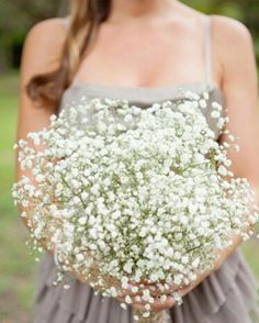 Oversized Bridesmaid's Bouquet Of White Gypsophila