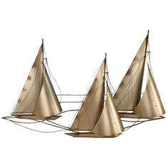 Metal Sailboat Wall Art sunset sailboat stainless steel wall sculpture | stainless steel