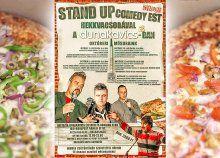 Töltsetek el kettesben egy szuper estét 2 pizza és remek humoristák társaságában a Római-parti Dunakavicsban Stand Up, 50th, Pizza, Get Back Up