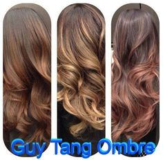 1. Cinnamon 2. Beach Sand 3. Rose Gold -- Guy Tang Hair