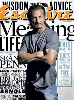 Esquire, Sean Penn is on the cover of this magazine. Sean Penn, Start Writing, Writing A Book, Writing Tips, James Meredith, Design Brochure, Free Subscriptions, Hollywood Celebrities, Hollywood Men