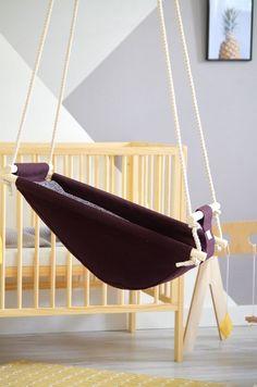 Baby boy baby girl baby showe first christmas gift Baby Hammock, Hammock Swing, Baby Swings, Indoor Swing, Indoor Hammock, Design Patio, Swing Design, Design Design, Wood Swing