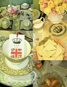 Royal bridal shower.. without the british flag.