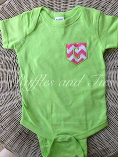 Pocket t shirt onesie by Rufflesandtiesms on Etsy, $18.00