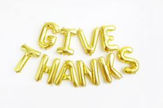 Give Thanks Letter Balloons - Thanksgiving Banner Decor