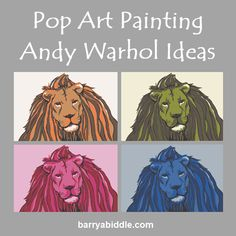 It's our way to let you be part of the story of Barry A Biddle's art by letting you choose your own colors. Second Wedding Anniversary, Andy Warhol, Design Your Own, Pin Collection, The Ordinary, Fine Art America, Pop Art, Lion Sculpture, Display