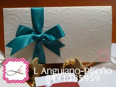 Invitacion hermosa para boda o xv años, envios a todo México... Visita mi FanPage: https://www.facebook.com/L-Anguiano-Dise%C3%B1o-1410279982551149/