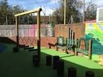 ''an outside nursery playground with stimulating environment ''.  An outside area with climbing equipment and free space for children to exercise and enjoy the learning environment around them.it provides  a stimulating environment with a imaginative and interesting activities.