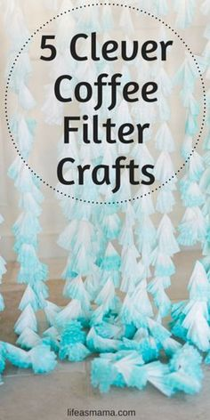 You'll never believe these gorgeous crafts are made with coffee filters! They are beautiful and simple, and oh so inexpensive.