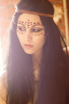 pocahontas makeup ideas for Halloween
