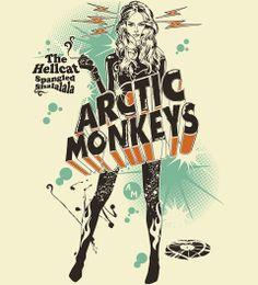 Reverbcity Shop - T-shirts Arctic Monkeys - The Hellcat Spangled