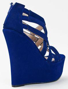 354da11f2e1033 Qupid KUNIS-10 High Platform Wedge Heel Strappy Sandal ZOOSHOO. sf store ·  Blue Heels