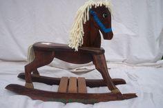Handmade Sheriff/Star Wooden Rocking Horse. $75.00, via Etsy.
