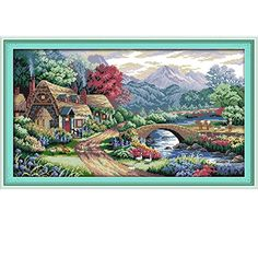 Bright Wolves In Woods Counted Cross Stitch 11ct Printed 14ct Cross Stitch Diy Chinese Cotton Cross-stitch Kit Embroidery Needlework High Standard In Quality And Hygiene Home & Garden