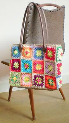 Haken en meer: Granny square tassen