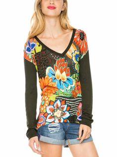 411e6df60fb6e 61J21E2 4092 Desigual Sweater Luisa, Khaki I Fall In Love, Pullover, Hands,  Spring