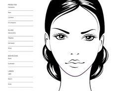 Face Chart Makeup Face Charts, Face Makeup, Realistic Face Drawing, Face Stencils, Face Mapping, Face Illustration, Makeup Dupes, Art Plastique, Fashion Face