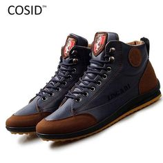 Brilliant Mens Outdoor Boots High Top Booties For Men Comfortable Shoes Casual Sneakers Male Footwear Adult Plus Size Zapatos De Hombre Work & Safety Boots