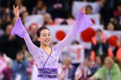 Mao Asada Photos Photos - Mao Asada of Japan celebrates after completing her routine in the Ladies Free Skate on Day 6 of the ISU World Figure Skating Championships 2016 at TD Garden on April 2, 2016 in Boston, Massachusetts. - ISU World Figure Skating Championships 2016 - Day 6