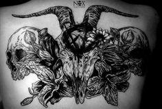 Goat and skulls by mattynox.deviantart.com on @deviantART