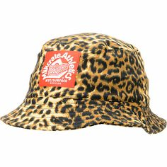 Keep your head protected from the sun while adding some wild flavor to your kit in the Milkcrate Safari leopard print bucket hat. This standard bucket hat is one size fits most with an all over