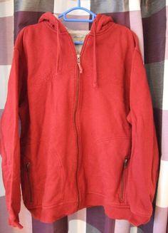 Kaufe meinen Artikel bei #Kleiderkreisel http://www.kleiderkreisel.de/herrenmode/cardigans/108393292-rote-moderne-sweatjacke-grosse-l