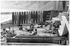 Vintage Surfing | Members of the Waikiki Club surf riding 1959 Lima Perù