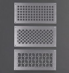 Lattice Aluminum x Grille Satin Aluminum Barn Wood Mirror, Register Covers, Vent Covers, Reclaimed Barn Wood, Home Hardware, Knobs And Pulls, Beautiful Space, Home Interior Design, Accent Decor