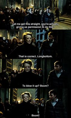 2nd best Mcgonagall moment, after yelling at Umbridge - Imgur