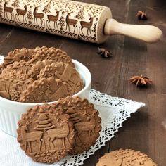 Christmas Tree Elk Engraving Baking Tool Wooden Rolling Pin  # #Kitchen&Dining Free Shipping & 30 days Easy Return. #womensfashion